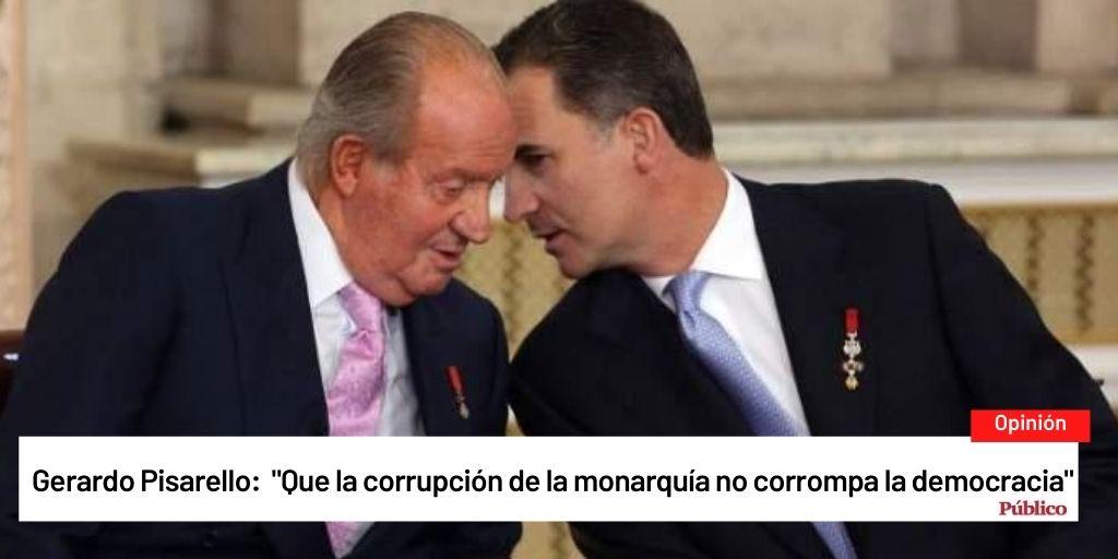 Que la corrupción de la monarquía no corrompa lademocracia.