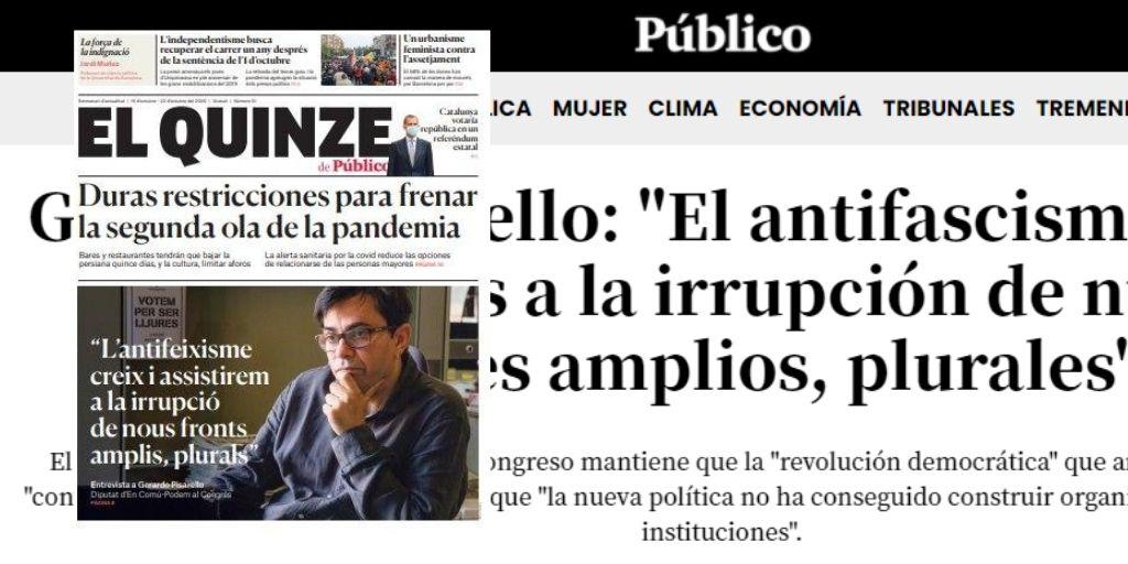 """ENTREVISTA: """"El antifascismo crece y asistiremos a la irrupción de nuevos frentes amplios,plurales"""""""